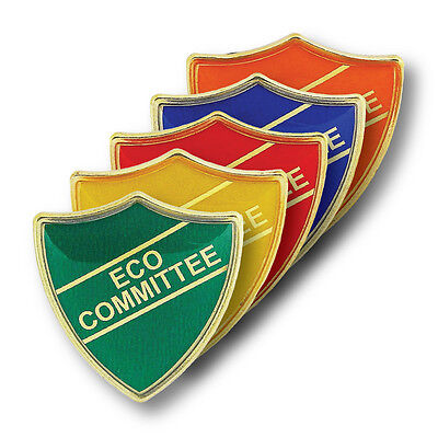 Eco-Committee Shield School Badges Red, Green, Blue, Yellow, Orange • 1.86£