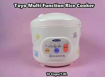 AU83.70 • Buy TOYO Deluxe Logic Multi-Function Rice Cooker With Keep Warm (10 Cups) MB-YD50D