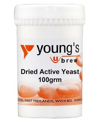 Youngs Home Brewing Dried Active Yeast For Beer & Winemaking 100g • 5.99£