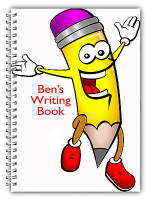 A5 Personalised Children's Notebooks/50 Write Hand Writing Practice Paper/ 07 • 7.90£