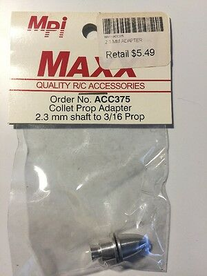 $4.50 • Buy MPI Maxx Collet Prop Adapter For 2.3mm To 3/16 Prop # ACC375