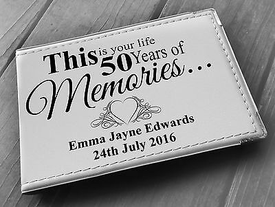 Personalised Guestbook Photo Album 36 X 6x4  My 50th Year Memory Book, Birthday • 15.99£