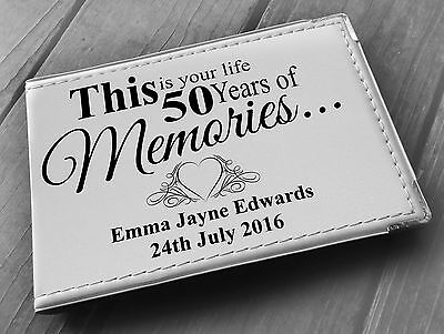 £15.99 • Buy Personalised Guestbook Photo Album 36 X 6x4  My 50th Year Memory Book, Birthday