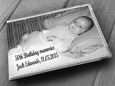 Personalised Guestbook Photo Album 36 X 6x4  50th Birthday Memory Gift • 15.99£