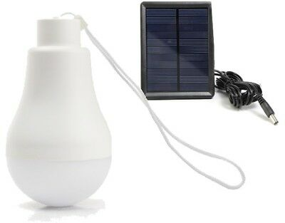 AU10 • Buy Camping Solar Rechargeable 1W LED Bulb And Solar Panel BRAND NEW Free Shipping