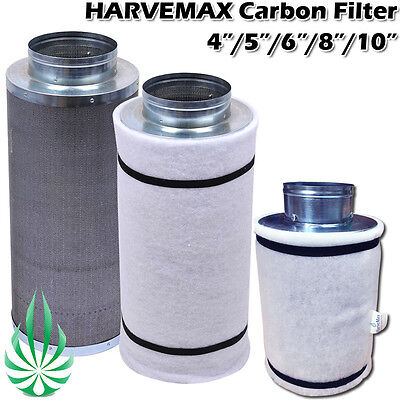 AU69.95 • Buy HARVEMAX Quality 4/5/6/8/10in Carbon Filter Fo Hydroponic Grow Tent Smell Clean