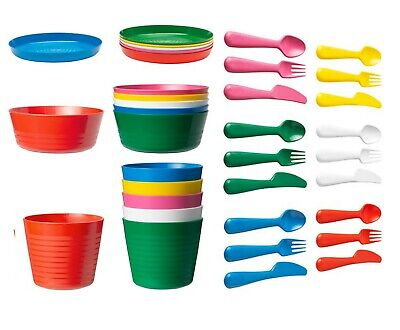 IKEA Kalas Children's For Kids Plastic Plate Cups Bowls And Cutlery Set • 5.86£