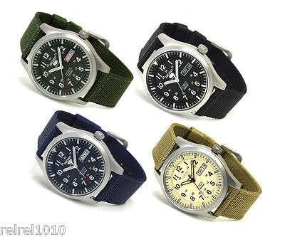 $ CDN192.13 • Buy Seiko 5 Sports Military Automatic Watch SNZG07 SNZG09 SNZG11 SNZG15