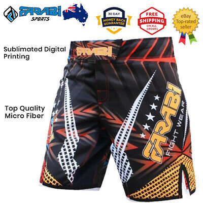 AU48.10 • Buy MMA Boxing Shorts Grappling Cage Fight Training Kick Boxing