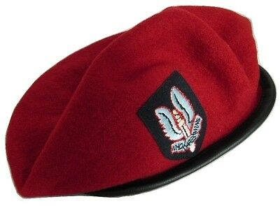 £6.50 • Buy Wool Military Army Style Beret Cap Hat SAS Embroidered Badge Size L New
