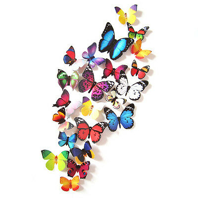 AU3.40 • Buy 24 Pcs 3D Butterfly Wall Stickers Art Decal Home Room Decorations Decor Kids