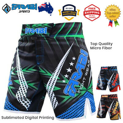 AU48.10 • Buy MMA Boxing Shorts Grappling Cage Fight Training Kick Boxing - Exclusive