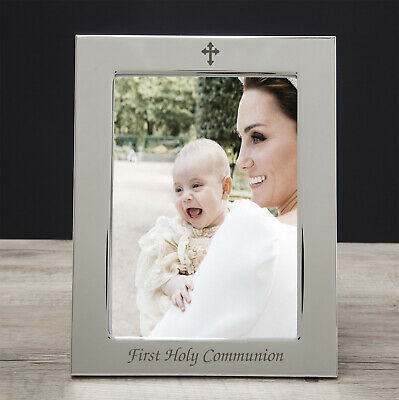 Silver 5x7 On Your 1st First Holy Communion Photo Frame Boys Girls Gifts Ideas • 12.99£