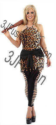 £9 • Buy Ladies Cavewoman Costume Sexy Cave Girl  Womens Fancy Dress Outfit FREE POST
