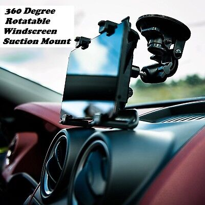 In Car 360° Rotate Windscreen Suction Mount Holder For 7  To 11  IPads & Tablets • 7.89£