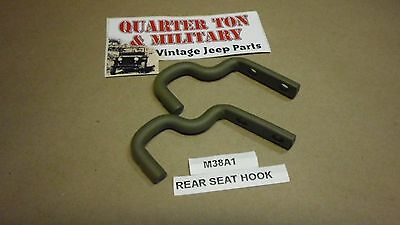 $16 • Buy Rear Seat Hooks Pair  Correct US Made FIT Willys M38A1 Jeep G758