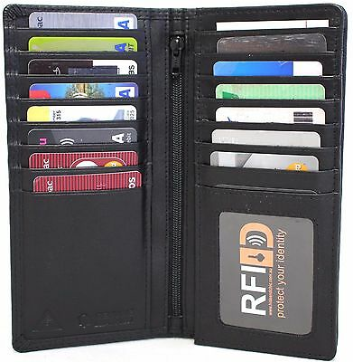 AU24.95 • Buy RFID Security Lined Leather Wallet Quality Full Grain Cow Hide Leather.BLK 11027