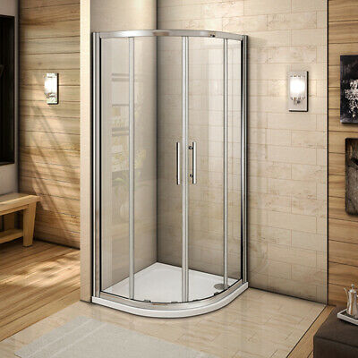 New Quadrant Sliding Shower Enclosure Glass Door Corner Entry Cubicle And Tray • 152.45£