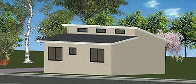 AU29135 • Buy 2 Bedroom DIY Granny Flat Kit - The Hayman 60 On Gal Chassis - CGI Wall Sheets
