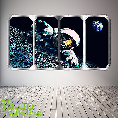 Space Planet Window Wall Sticker Full Colour - Earth Planets Space Ship Sp15 • 13.99£