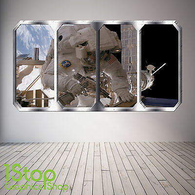 Space Window Wall Sticker Full Colour - Earth Planets Space Ship Sp22 • 11.99£
