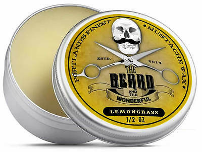 £3.68 • Buy Lemongrass Moustache Wax (15ml) Premium Strong For Styling, Twists & Curls