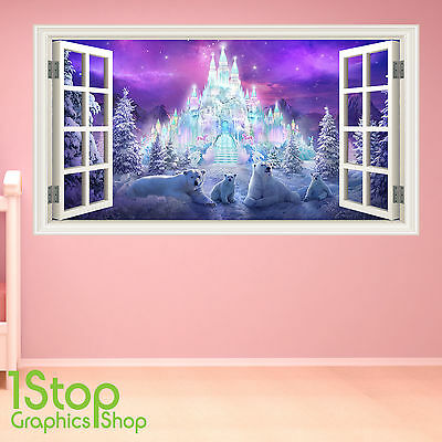 Fairytale Castle Wall Sticker Full Colour - Girls Boys Enchanted Bedroom W152 • 13.99£