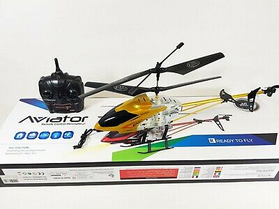 £44.99 • Buy UK HUGE Model Alloy Shark 1201 3Ch Radio Remote Control RC Helicopter Gyro RTR