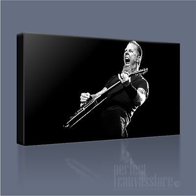 METALLICA FRONT MAN JAMES HETFIELD ICONIC CANVAS POP ART PICTURE By Art Williams • 37.50£
