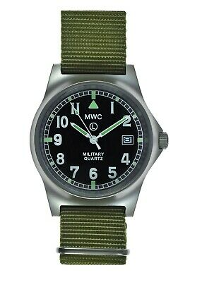 £72.50 • Buy MWC G10LM Military Watch   50m   Date Window   Screw Case Back   Olive Strap