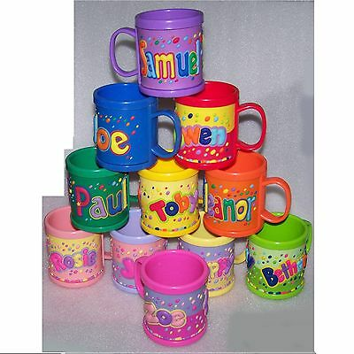 Girl/Boys Childrens 3D Personalised Name Plastic Cup/Mug New Perfect Gift • 2.99£