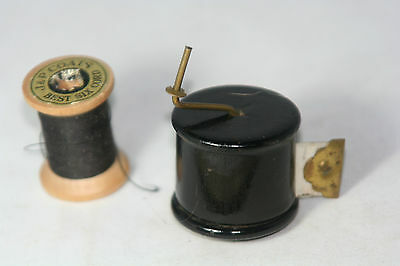 ANTIQUE~~ SPOOL SHAPED Celluloid TAPE MEASURE,~FIGURAL NOVELTY  • 124.34£