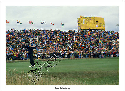 Seve Ballesteros Signed Print Photo Poster Wall Art Golf Open Masters Ryder Cup • 18.97£