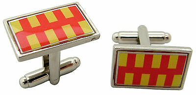 £4.99 • Buy Northumberland Flag Badge Cufflinks Mens Gents Novelty In Gift Pouch
