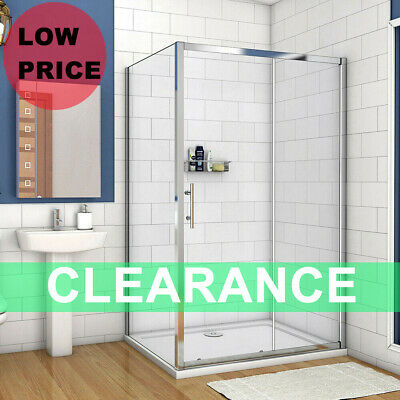 £104.59 • Buy Bathroom Sliding Door Shower Enclosure Side Panel And Tray 6mm Glass Cubicle B8