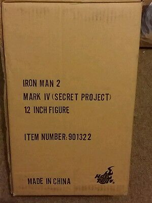 AU1500 • Buy RARE 1/6 Scale Hot Toys Iron Man 2 Mark IV Secret Project Figure (IN STOCK)