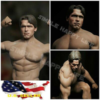 AU52.76 • Buy 1/6 Arnold Schwarzenegger Head Young 3.0 For Terminator T800 Phicen M34 Hot Toys