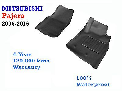 AU89 • Buy To Suit Mitsubishi Pajero NS NT NW NX Moulded Rubber 3D Contour Front Floor Mats