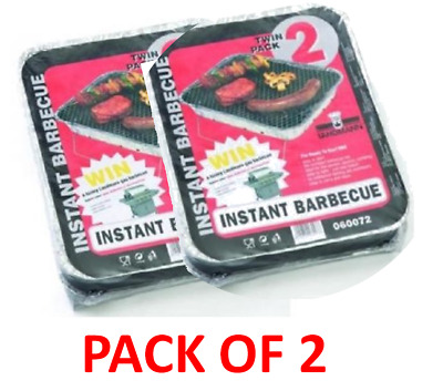 Landmann Grillcheff Twin Pack Instant Throw Away Barbeque BBQ • 3.99£