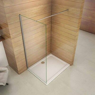 £126.33 • Buy Walk In Wet Room Tall Shower Screen Panel Enclosure Cubicle 8mm NANO Clean Glass