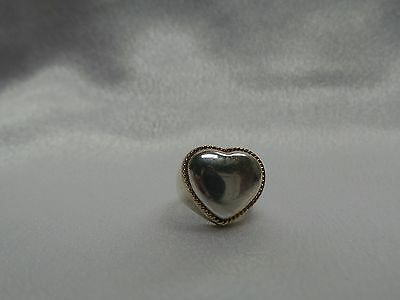 £210.05 • Buy Tiffany Heart Shape Ring Silver And 18kt Very Hard To Find