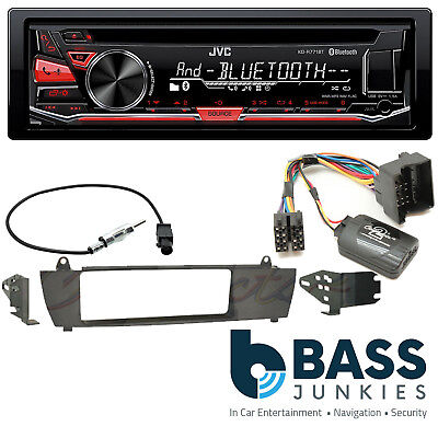 BMW X3 2003-2010 JVC Bluetooth USB CD MP3 AUX IPhone Android SWC Car Stereo Kit • 139.99£