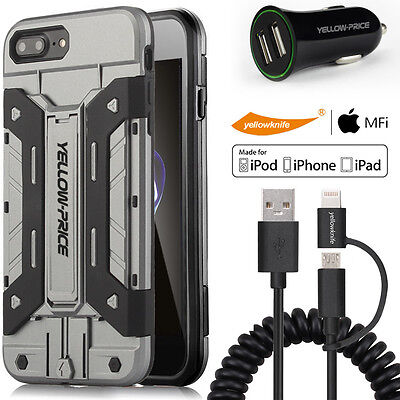 AU27.23 • Buy Heavy Duty Stand Case, MFI 2 In 1 Sync Cable,2.4A Car Charger IPhone 6S/7/7 Plus