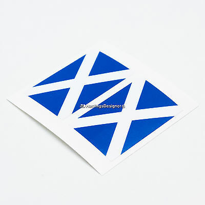 2x SCOTLAND FLAG Saltire Laminated Car,Window,Bumper,Laptop Vinyl Decal Stickers • 1.99£
