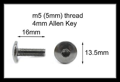 Honda Stainless Motorcycle Fairing Pan Head Allen Key Bolts M5 X 16mm - 10 Pack • 8.99£
