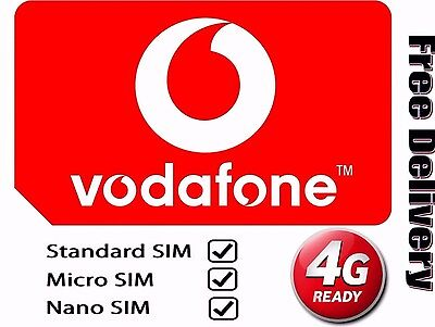 £0.99 • Buy Vodafone PAYG Pay As You Go Nano 4G Sim Card For IPhone 5, 6, 7 Plus S5,S6,S7 A5