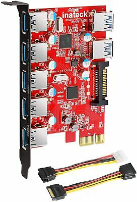 $30.99 • Buy Inateck 15Pin SATA Connector Superspeed 7 Ports PCI-E To USB 3.0 Expansion Card