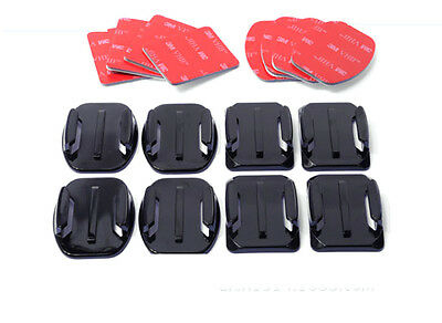 AU8.88 • Buy Fit GoPro Hero 3+ 4 5 6 7 Flat Curved Adhesive Sticky Mounts Pads Accessories X8