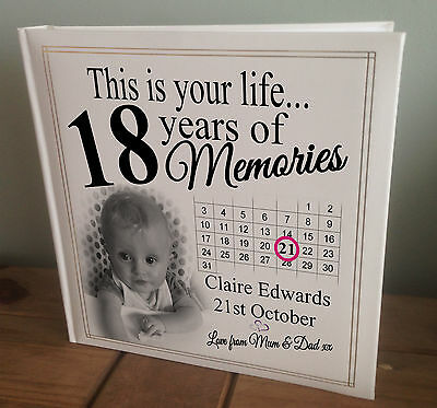 Personalised Extra Large Photo Album, 18th Memory Book, 18th Birthday Present. • 45.99£