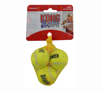AU10.50 • Buy KONG Air Dog Squeaker Tennis Balls EXTRA SMALL PACK OF 3 - 40mm Diameter Airdog